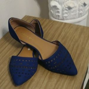 Madden Girl Shoes - Madden Girl Navy Flats